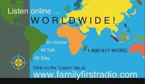 Listen online card with WORLDWIDE